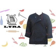 Jacket cook strapnet black board bordeaux double-breasted