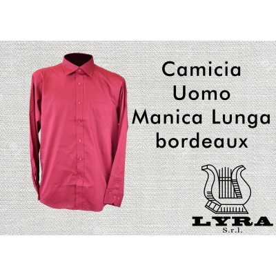 Man shirt M/L col. Bordeaux