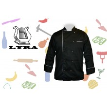 Jacket chef black double-breasted